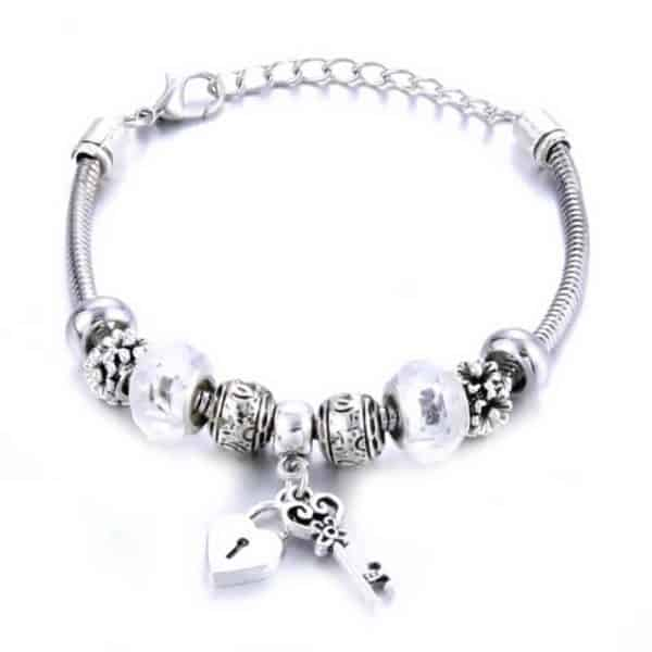 Pandora srebrna zapestnica ljubezni
