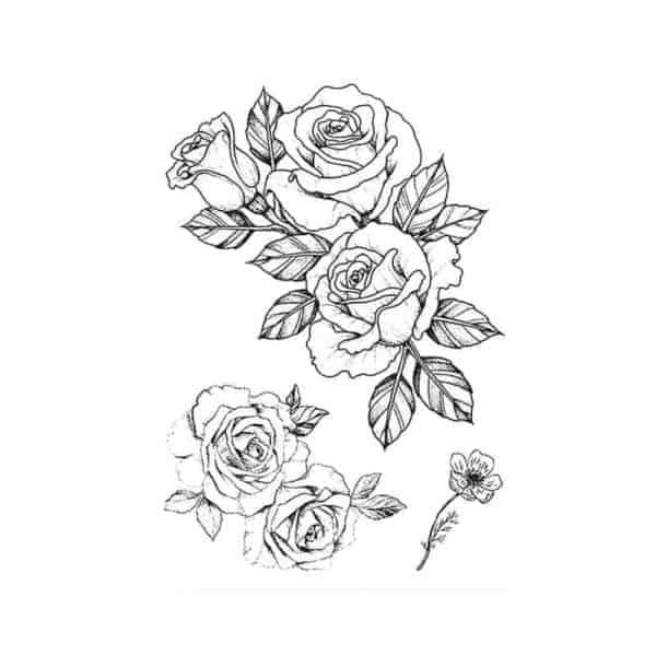 Set začasnih tattoojev vrtnica