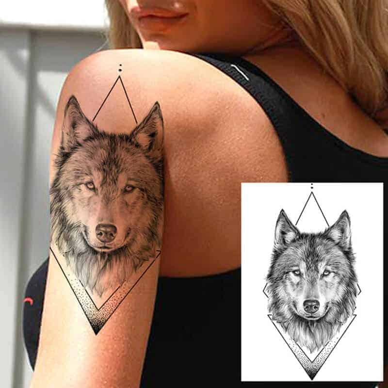 Tattoo nalepka živali VOLK