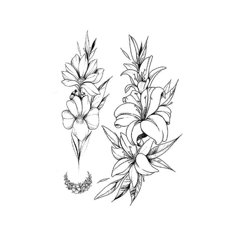 Tattoo začasni čudoviti cvetovi