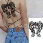 Začasna tattoo nalepka angelska krila s križem