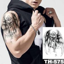 Začasni tattoo angelski bojevnik
