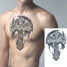 Začasni tattoo križ z zmajem