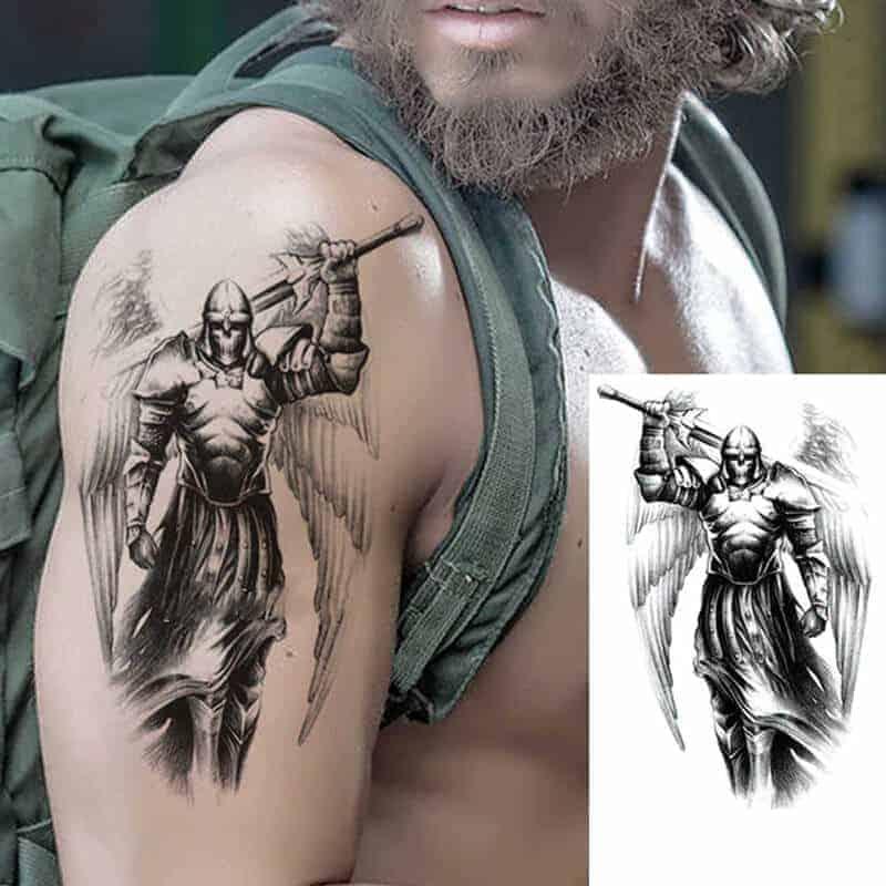 Začasni tattoo mogočni bojevnik
