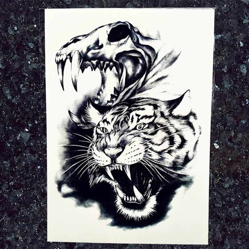 Začasni tattoo nalepke tiger