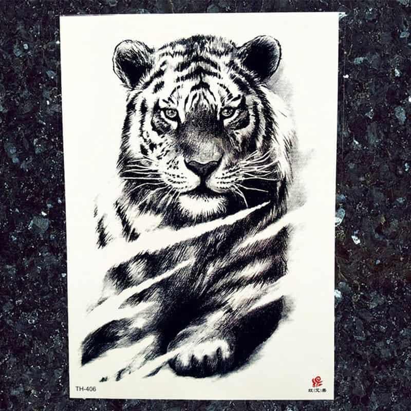 Začasni tattoo osredotočeni tiger