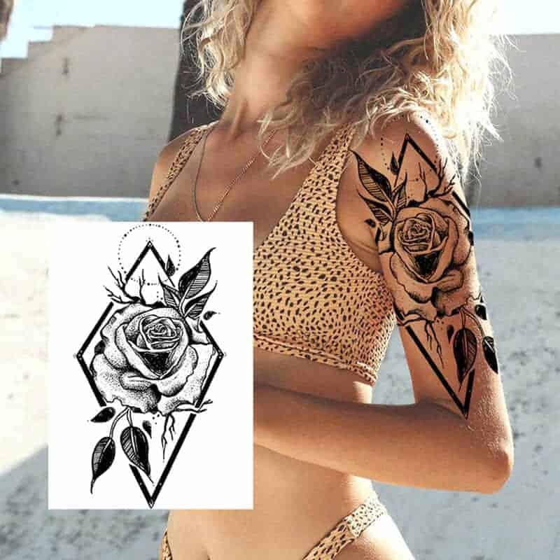 Začasni tattoo za roko vrtnica