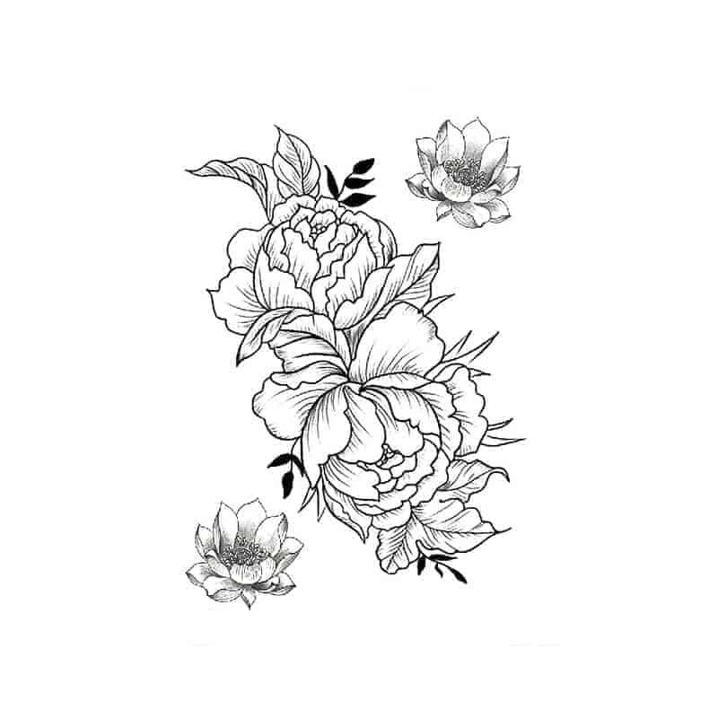 cvetovi začasni tattoo nalpeka