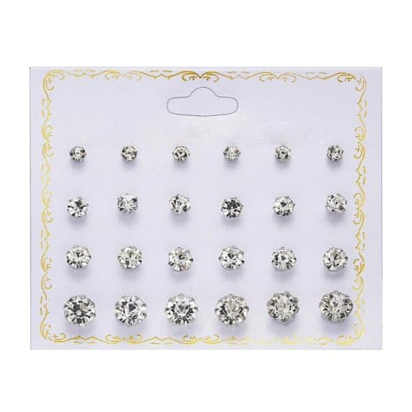 komplet diamantnih uhanov