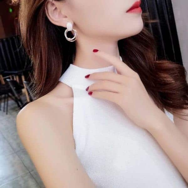 modni uhani krožni