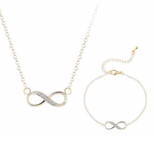 nakit neskončno verižica in zapestnica