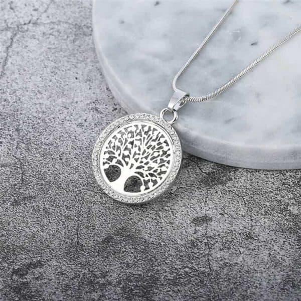 srebrna verižica drevo življenja