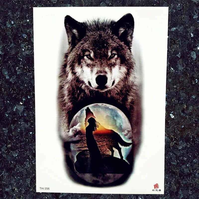 tattoo nalepka volk