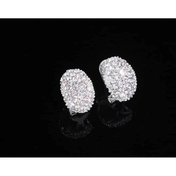uhani srebrni za ženske z diamanti