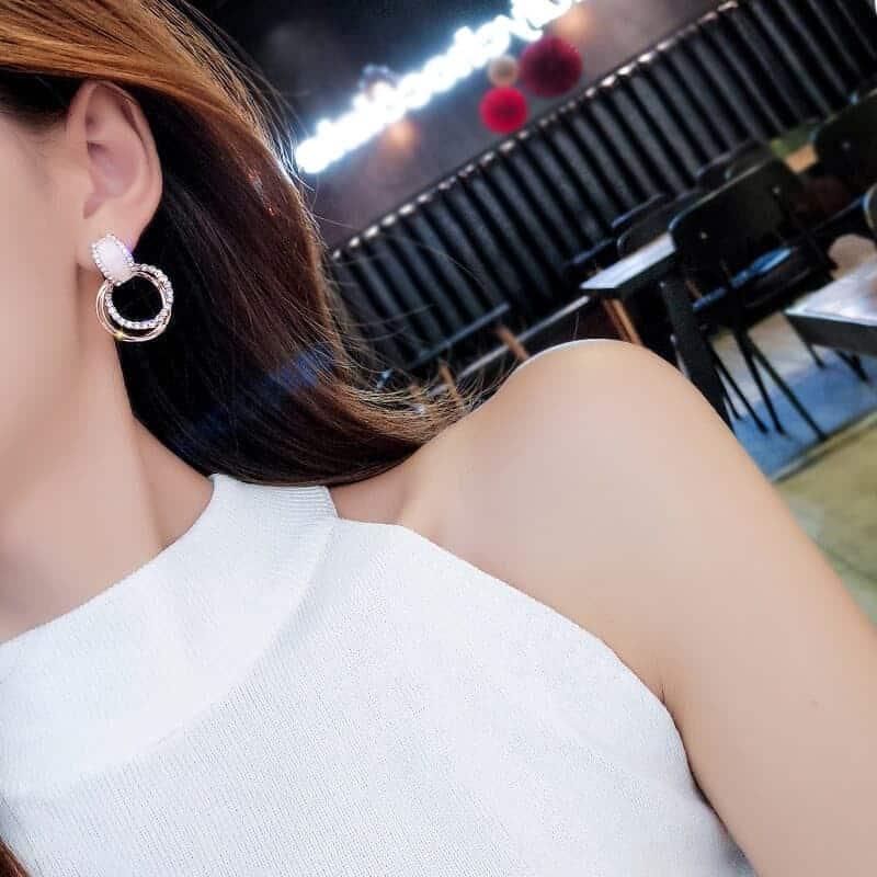 uhani viseči modni za ženske krožni