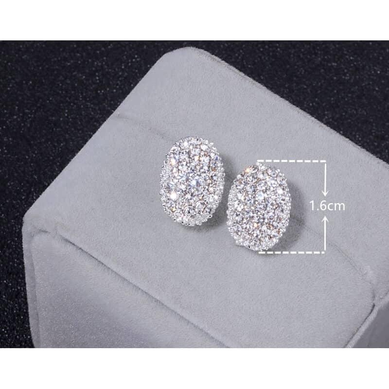 uhani za poroke srebrni velikost