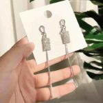 viseči uhani srebrni za ženske