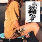 vrtnica začasni tattoo črni