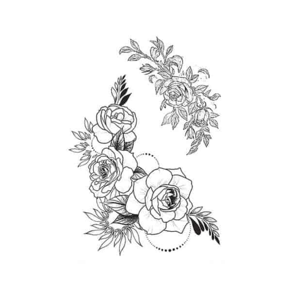 vrtnice tattoo začasni