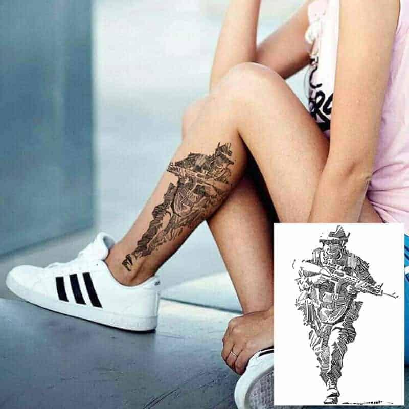 začasne tetovaže vojak