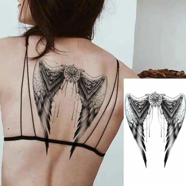 začasni tattoo angelska krila s smerokazom