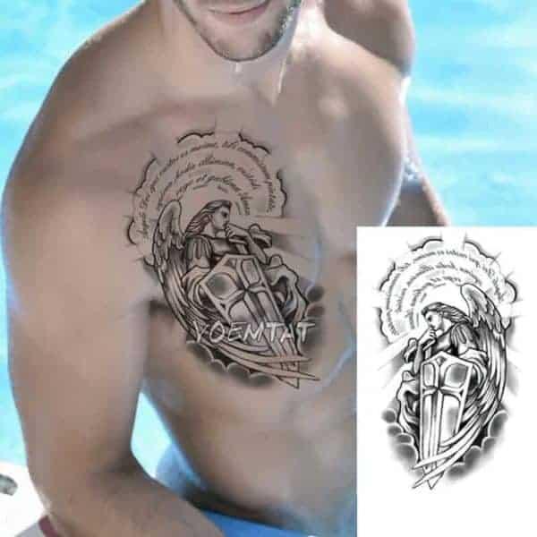 začasni tattoo angelski varuh
