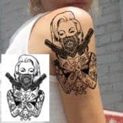 začasni tattoo bojevnica