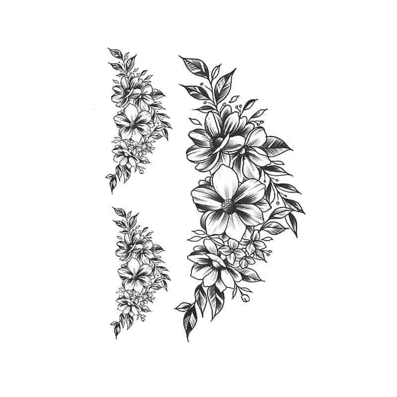 začasni tattoo cvetovi rož črna barva