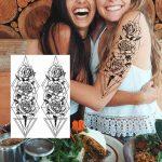 začasni tattoo geometrijske vrtnice