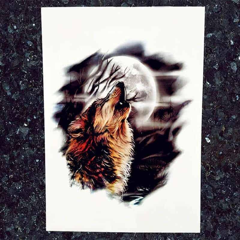začasni tattoo nalepka volk