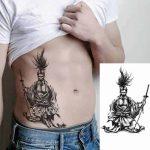 začasni tattoo samuraj