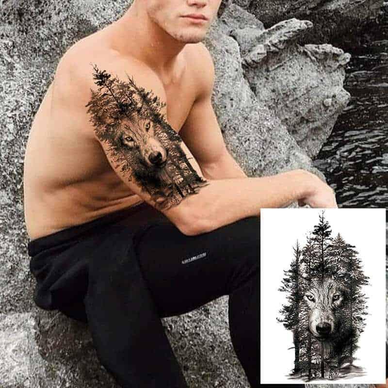 začasni tattoo volk alfa