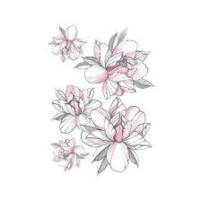 začasni tattoo vrtnica roza
