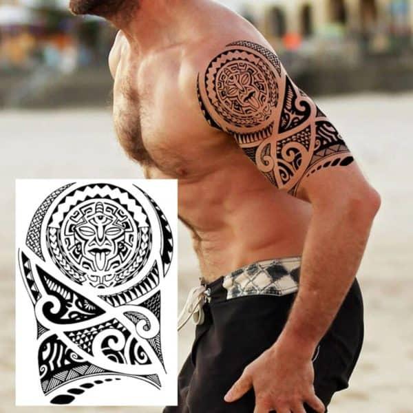začasni tattoo za roko črne barve