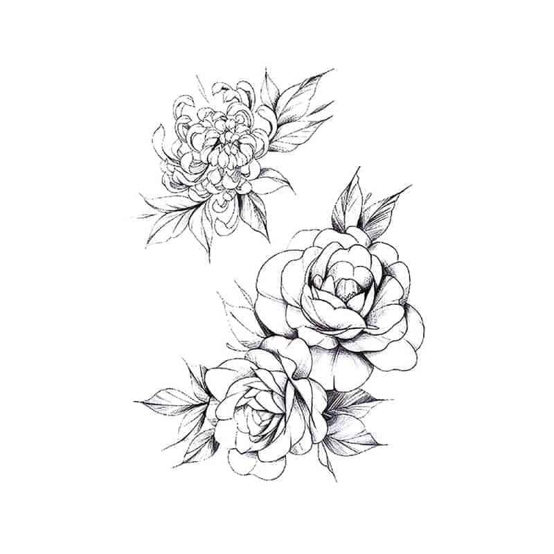ženski začasni tattoo vrtnice modni