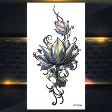 Barvni tattoo začasni cvetovi