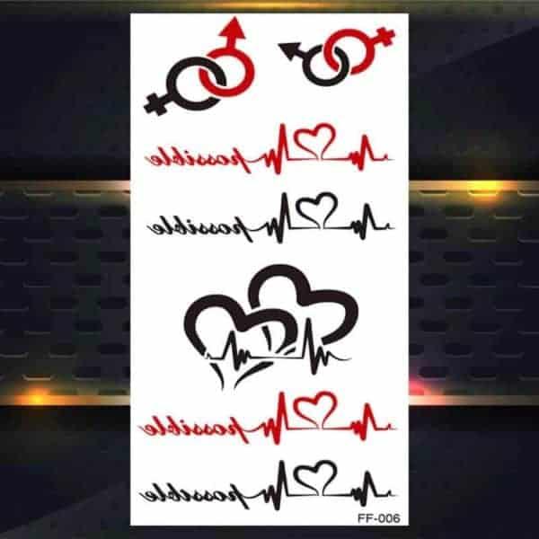Set malih začasnih tattoojev motivi življenja