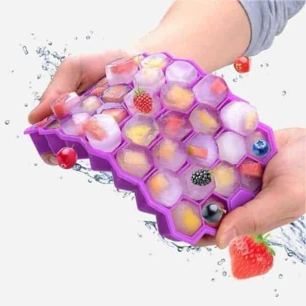 Silikonska posodica za led vijolična barva