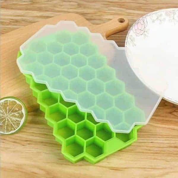Silikonska posodica za led zelena barva