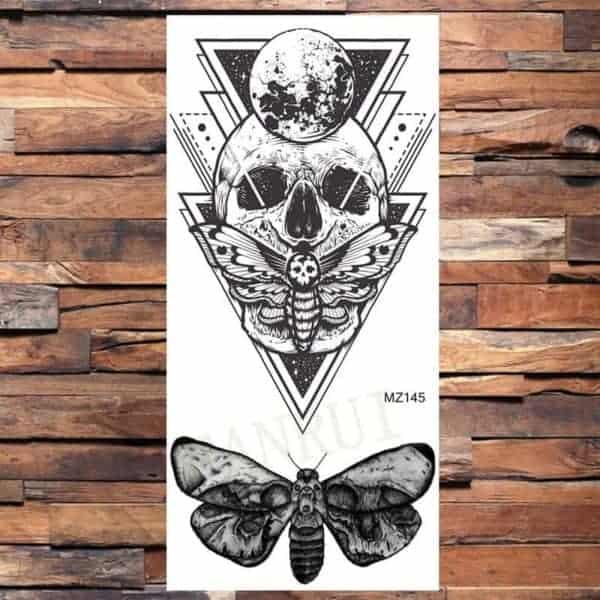 Tato lobanja in metulj