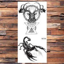 Tattoo jelen in škorpion