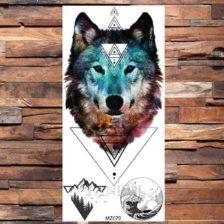 Tattoo nalepka volk barvni