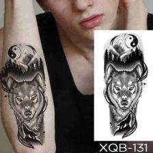 Tattoo nalepka za roko žival volk