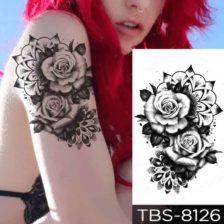 Tattoo nalepke črne vrtnice