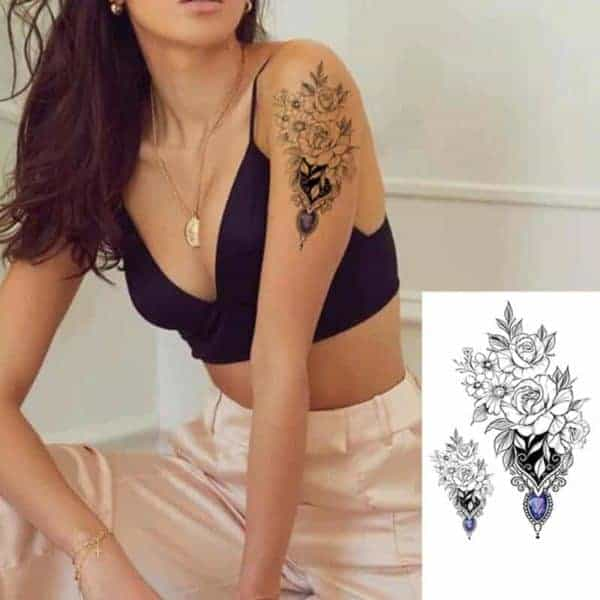 Tattoo začasni z barvnim diamantom