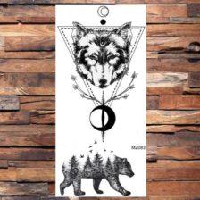 Tattooji začasni volk in medved