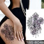 Vrtnice tattoo barvni
