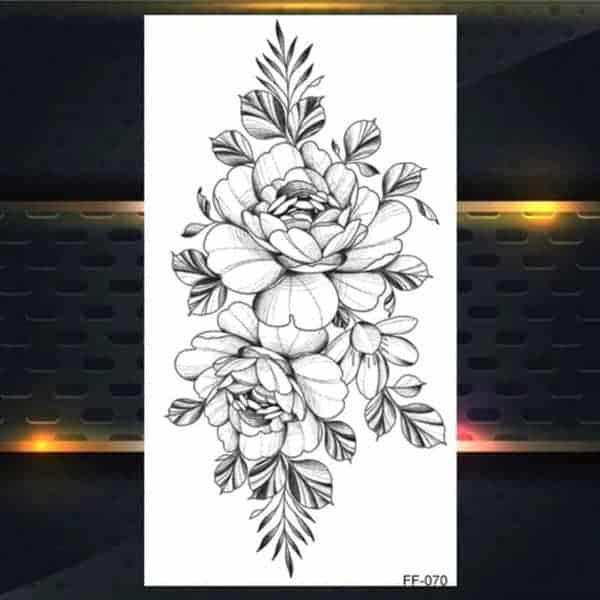 Začasne tetovaže prekrasne vrtnice