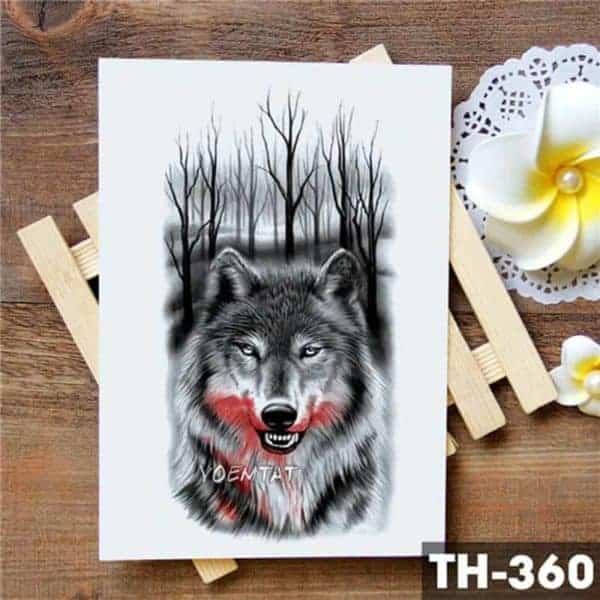 Začasne tetovaže volk