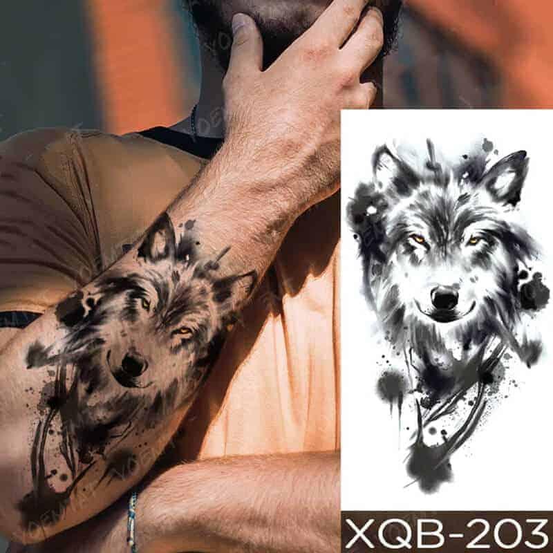 Začasne tetovaže žival volk